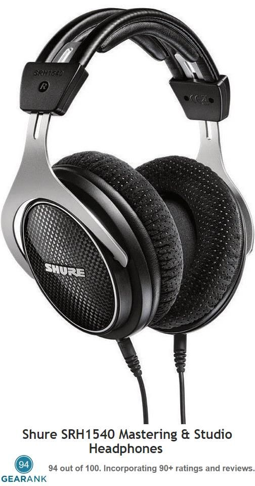 Shure SRH1540 Mastering & Studio Headphones - the highest rated Closed-Back Headphones under $500. These are designed for use in both pro & home recording studios.  For more information see https://www.gearank.com/guides/closed-back-headphones