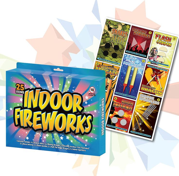 retro indoor fireworks by hunter gatherer | notonthehighstreet.com