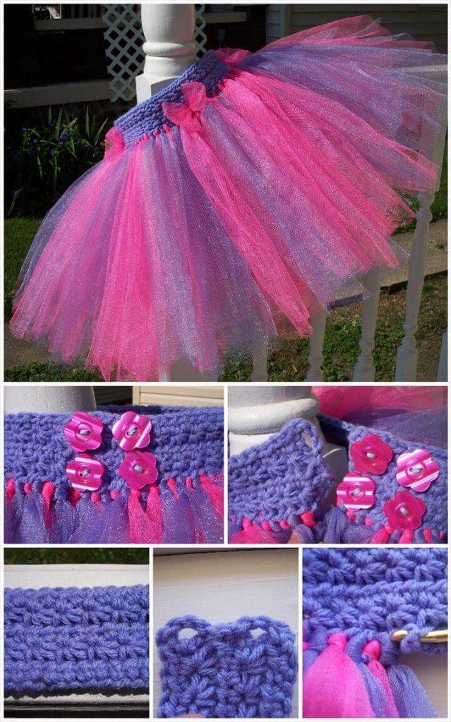 10 Free Crochet Patterns For Girl Tutu Dress Top Tulle Crochet