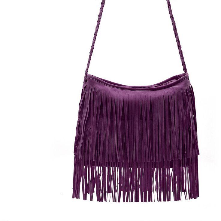 Mulheres Tassel Casual Crossbody Bag Ladies saco de compras Casual Shoulder