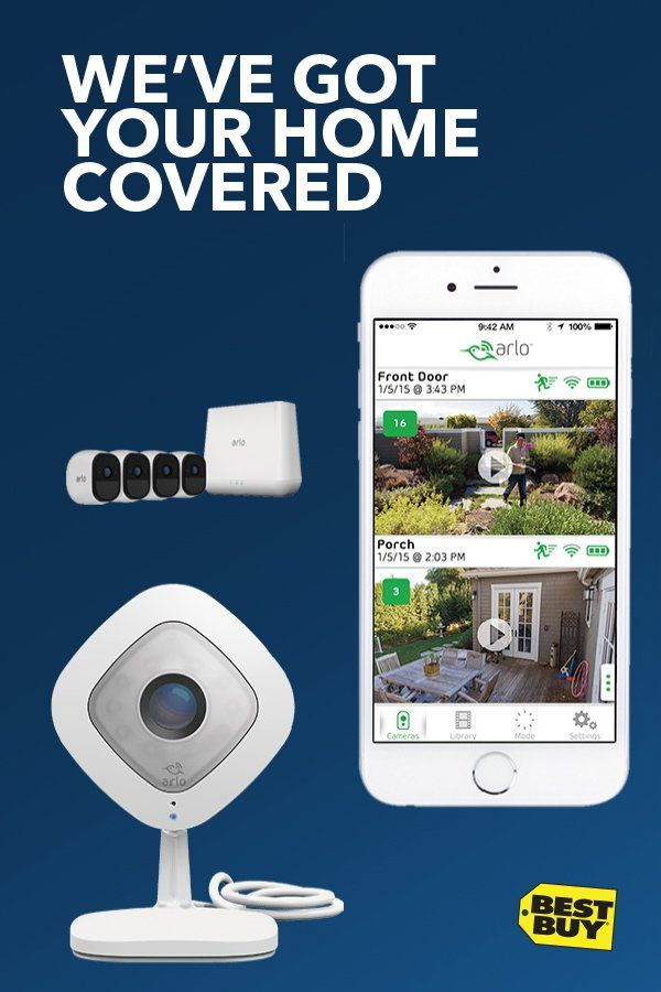 Save $50 on Arlo Pro. Look after your home and deliveries. Go on, order that dress. Arlo, the world's first and only wireless, weatherproof, rechargeable HD camera with two-way audio and a 130-degree viewing angle has everything you need to keep an eye on your home 24/7. Advanced motion detection and night vision help ensure you don't miss a thing. And when necessary, you can sound a 100+ decibel siren remotely, or trigger it with motion or audio. Offer valid 10/15/17-10/28/17.