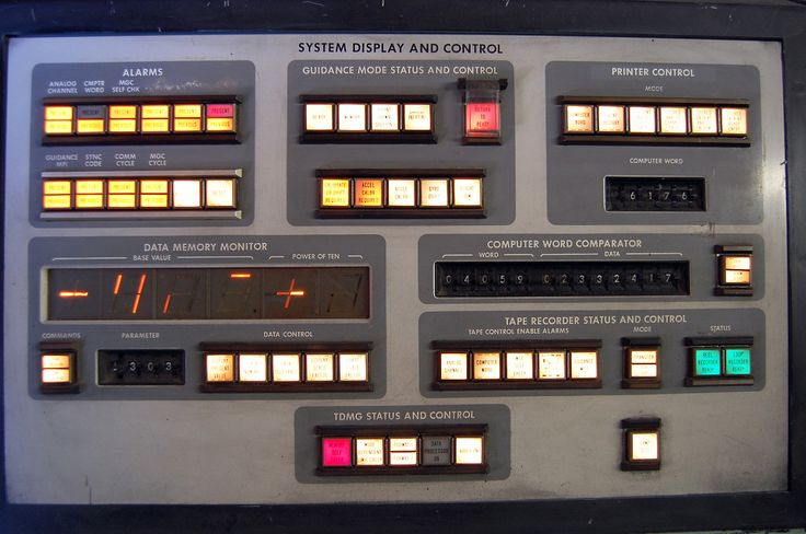 computer console from the 1970s