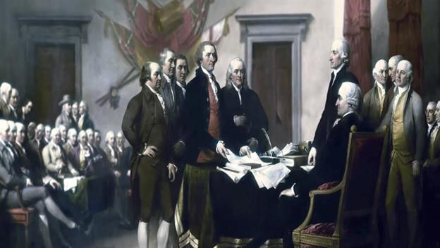 HISTORY - Declaration of Independence - In June 1776, representatives of the 13 colonies then fighting in the revolutionary struggle weighed a resolution that would declare their independence from Great Britain. On July 2nd, the Continental Congress voted in favor of independence, and two days later its delegates adopted the Declaration of Independence, a historic document drafted by Thomas Jefferson.
