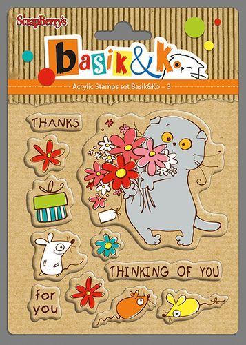 Basik Thinking of you Set of stamps 10,5x10,5cm