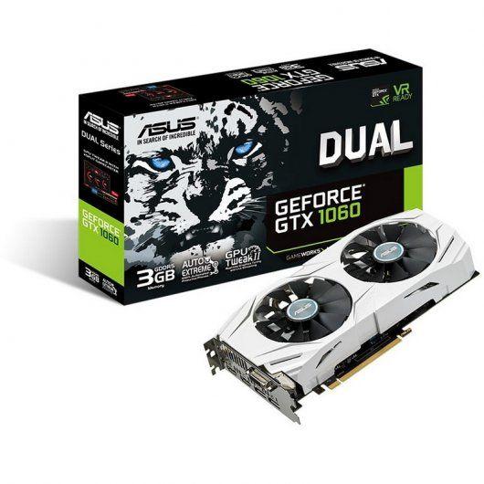TARJETA GRAFICA ASUS DUAL-GTX1060-O3G 3GB GDDR5 PCIE3.0 HDMI