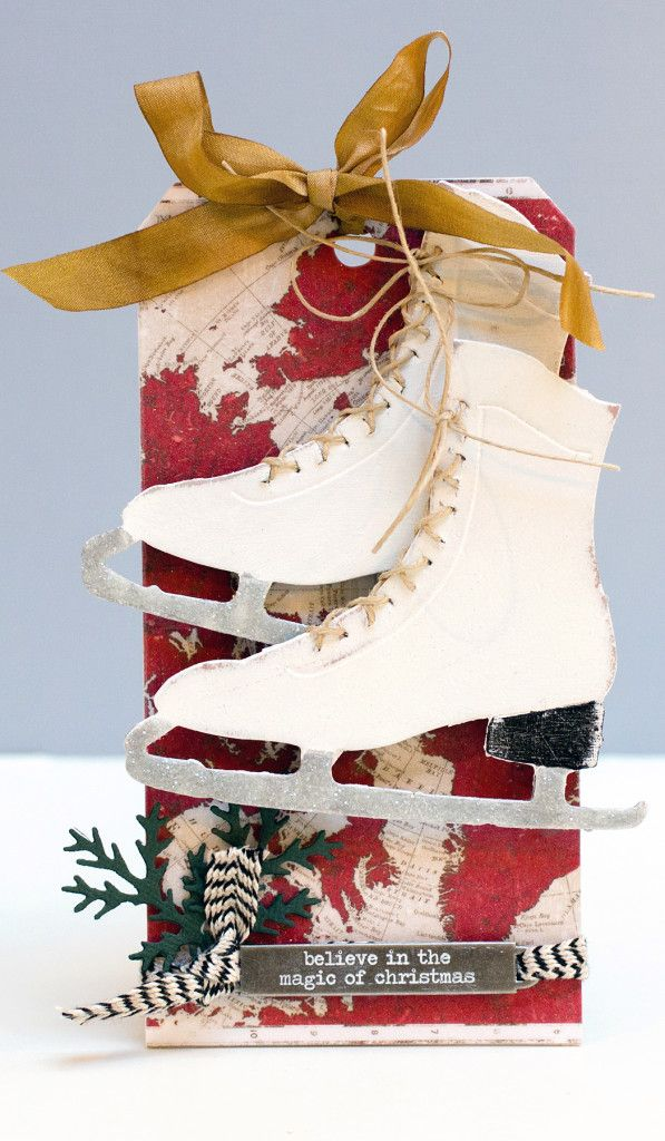 Tim Holtz Skate Tag by Jean Manis
