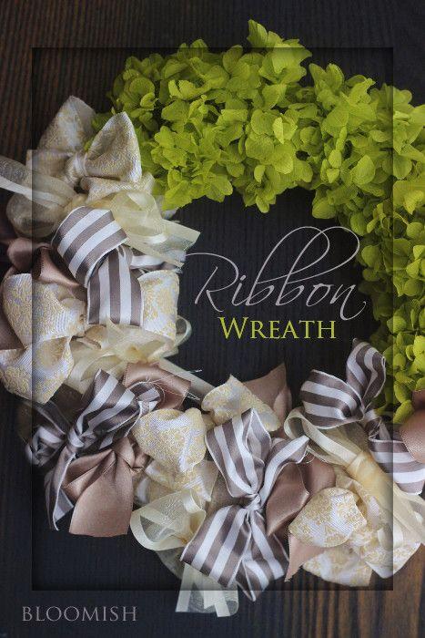 リボンリース♪ の画像|bloomish東京・自由が丘・田園調布プリザーブドフラワー教室アーティフィシャルフラワー教室