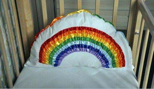 Подушка радуга
