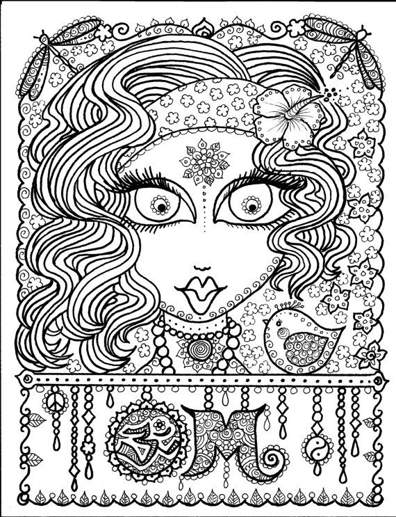 Instant Download OM Art for you to COLOR por ChubbyMermaid en Etsy