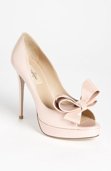 Couture Bow Platform Pump - Lyst. Wedding Shoes // Aisle Perfect