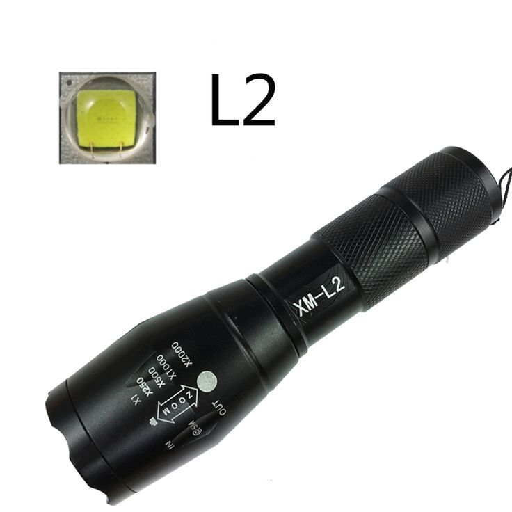 Z50 Cree L2 Flashlight Torch Lamp Self Defense LED Flash Light powerful Tactical Emergency Defensive orch +battery+charger