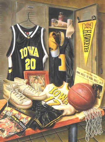 University of Iowa Hawkeyes Basketball Legacy Art Print
