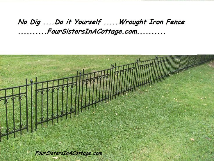 Vintage style wrought iron fence no dig since all