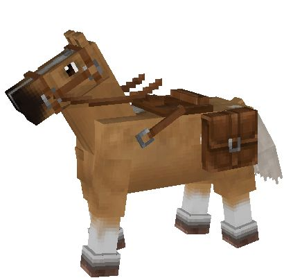 how to get a saddle on a horse in minecraft