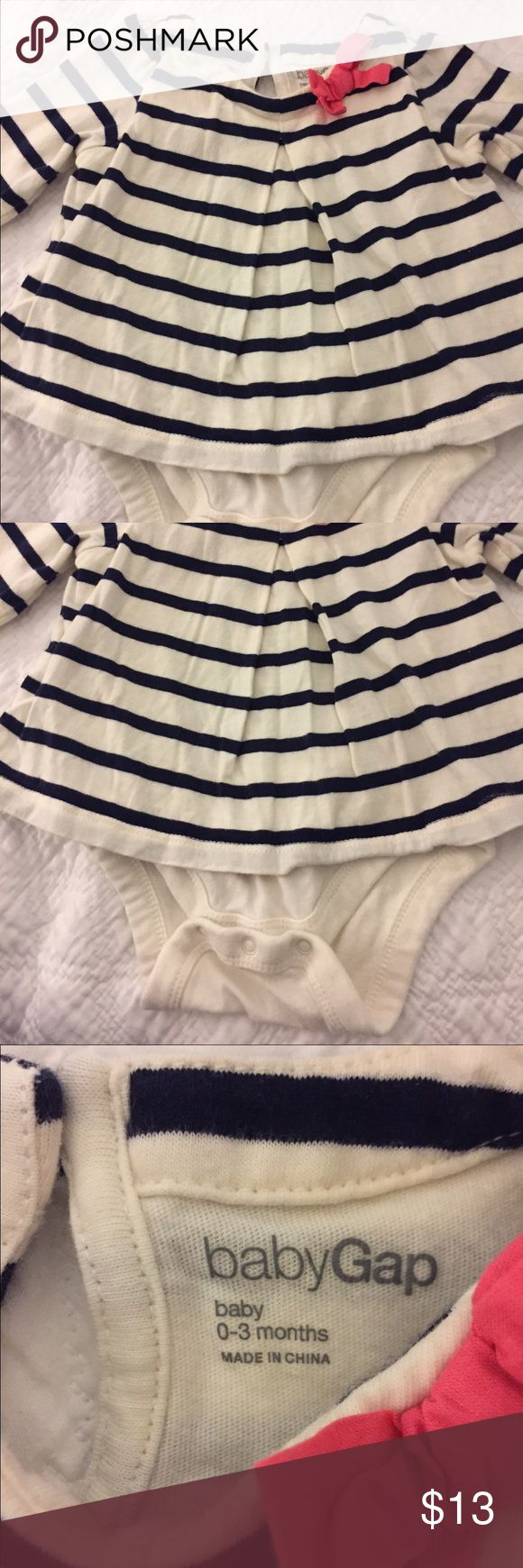 Gap nautical Top Gap nautical Top with pink bow detail GAP Shirts & Tops