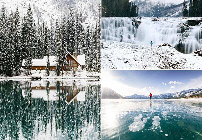 """Quem vive em lugares mais frios sabe bem comoreclamar quando o tempo esfria de vez. O inverno pode até ser uma estação menos confortável do que as outras, mas certamente não perde nada quando o quesito é beleza. É o que o fotógrafoStevin Tuchiwskypretende mostrar com suas fotografias do inverno canadense. Ele vive em Calgary, onde as temperaturas chegam a -30 ºC durante o inverno, o que faz com que o fotógrafo conheça bem as paisagens geladas do país. """"Há tantas atividades para se fazer…"""