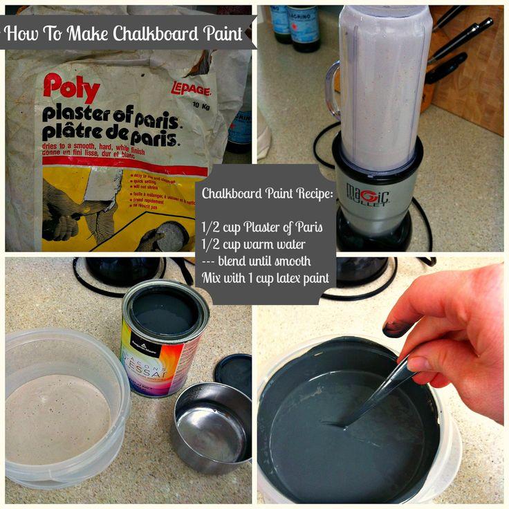Chalk Paint Recipe | chalkboard paint recipe