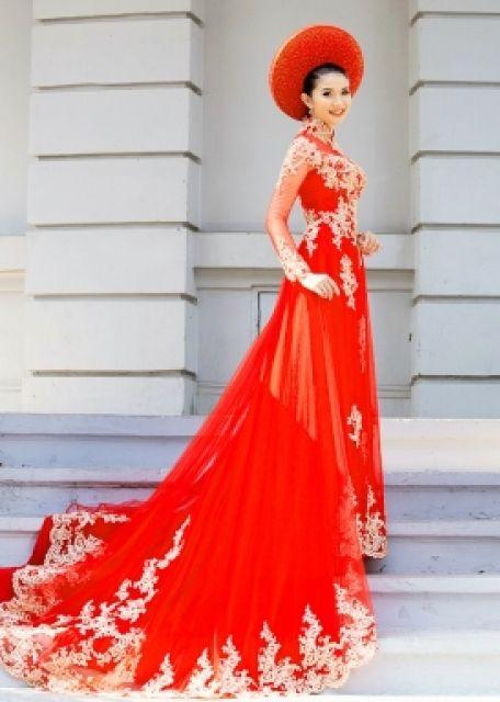 Heaven Ao Dai Vietnamese Wedding Dress Wedding Dress