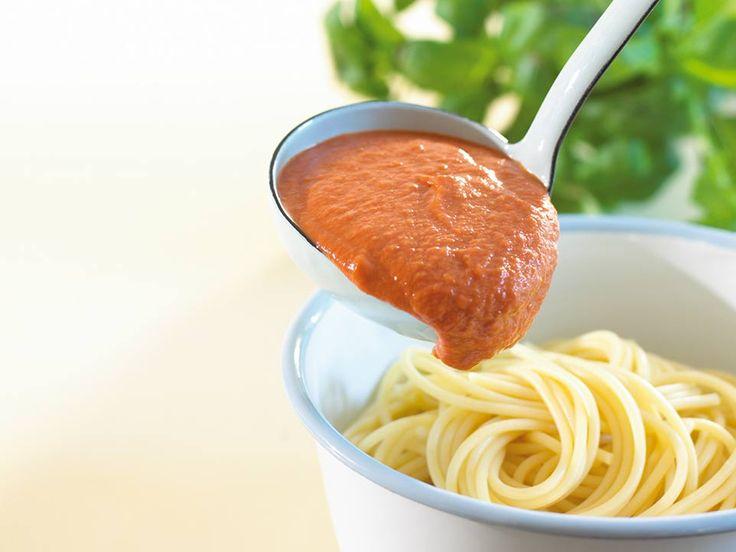 This quick and easy tomato sauce is perfect to go with pasta, accompany Annabel's Mini Meatballs or to use as a topping for Tortilla Pizzas.