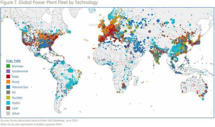 All Of The World S Power Plants In One Handy Map