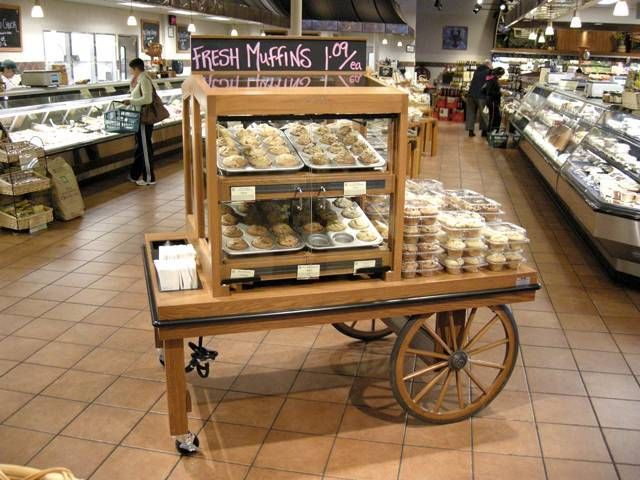 Gourmet Bakery Cart Old Style Push Cart Creative Merchandising Systems Inc | eBay