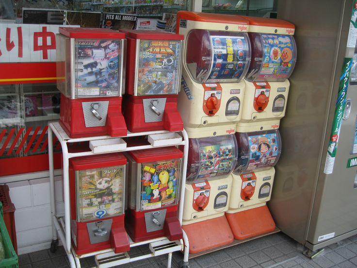 Gashapon (capsule toy) vending machine.
