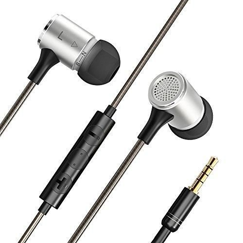 VAVA Flex Earbud headphones Dual EQ Modes Wired Stereo In-ear headphones earbuds with mic (Inline Controls for iOS/ Android Built-in Mic Hands-free Calling Extra Earbuds Gold-plated Connector)