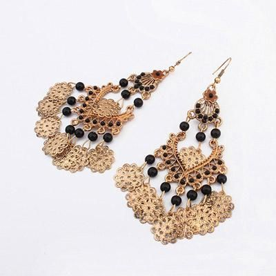 podotukushop_0A5BA7 Anting Korea beads decorated hollow out design