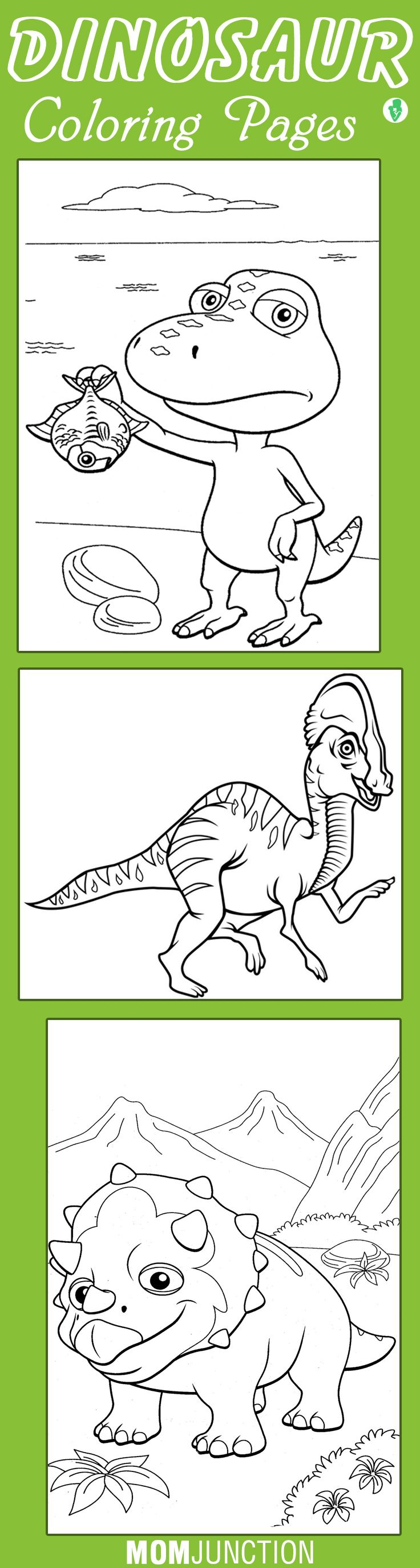 Dinosaur coloring pages to color online - Top 10 Free Printable Dinosaur Train Coloring Pages Online