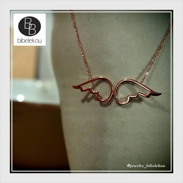 wings jewels silver rosegold necklace fashion