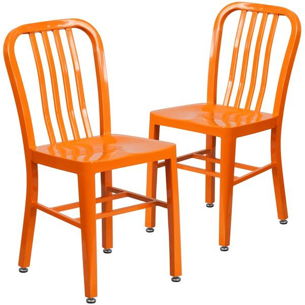 Update the look in your home or restaurant using this modern industrial style chair. Don't be afraid to add some color to brighten up your kitchen, bar or man cave. This all-weather use chair is great for indoor and outdoor settings. For longevity, care should be taken to protect from long periods of wet weather. This easy to clean chair makes it the perfect option for any eatery while adding a burst of color.