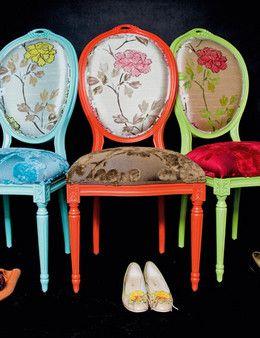 Momento Decoración » Sillones y sillas Luis XV recicladas: la rebelión francesa! LAS QUIERO!!!!