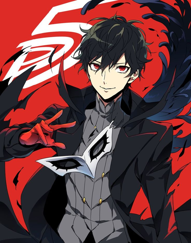 An awesome Persona 5 poster featuring the main character
