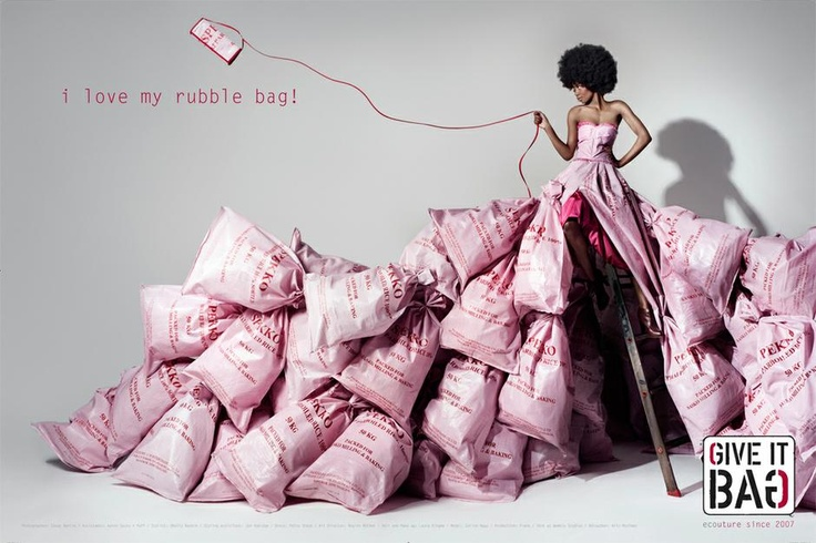 I love my rubble bag.  Give it Bag campaign.
