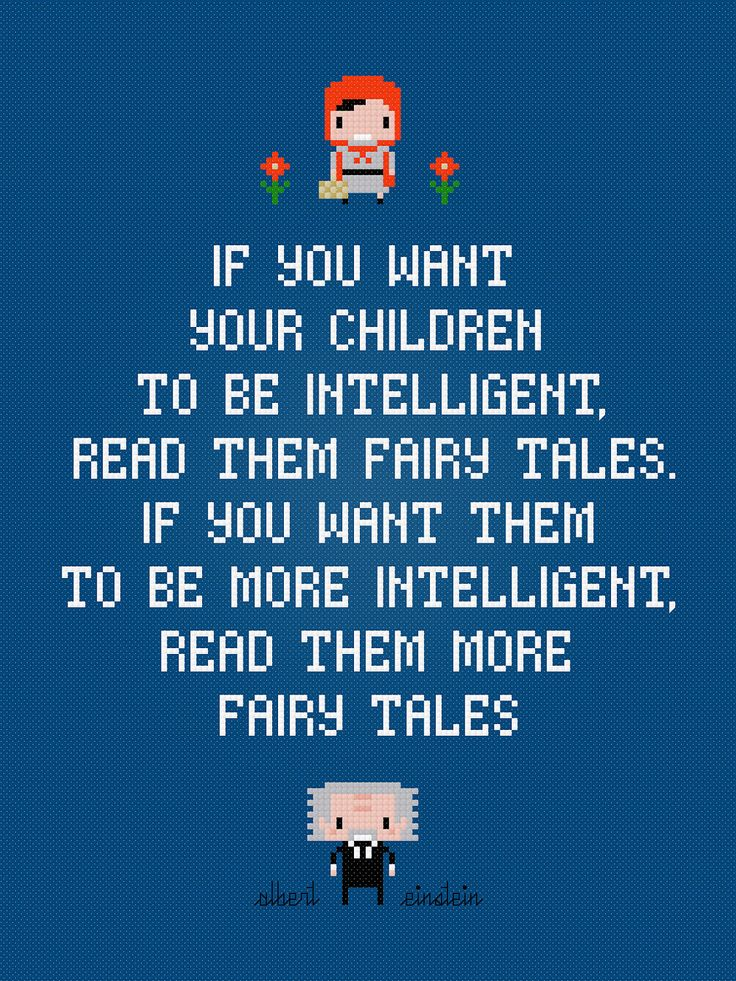 Albert Einstein Quote - Fairy Tales - Cross Stitch PDF Pattern Download. $4.00, via Etsy.