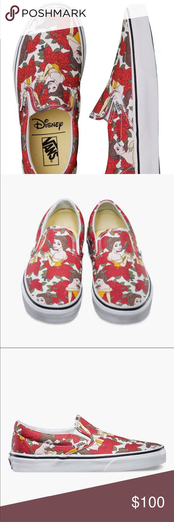 Disney Vans size women's 6 More photos coming Size 6 Disney Vans, only worn once still in good condition. Some of the red from the shoe bled onto the rubber but still in great condition. So so so cute!!!!!! Vans Shoes Sneakers