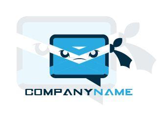 LOGO MAIL NINJA Logo design - this logo for mail company want ninja icon Price $100.00