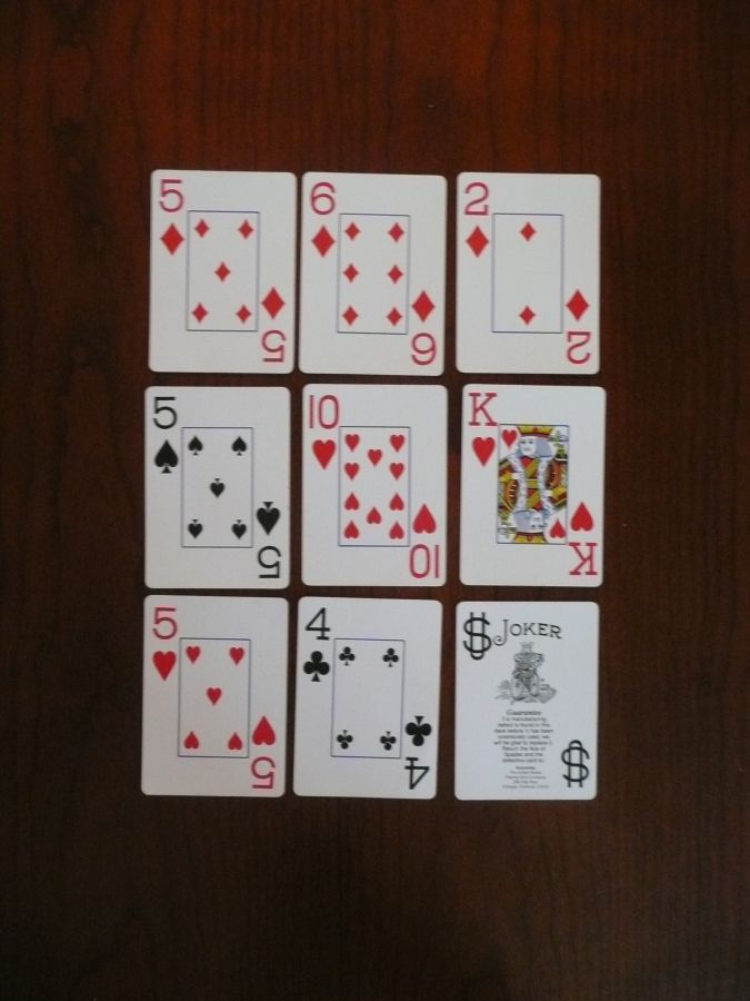 how to play golf card game 9 cards