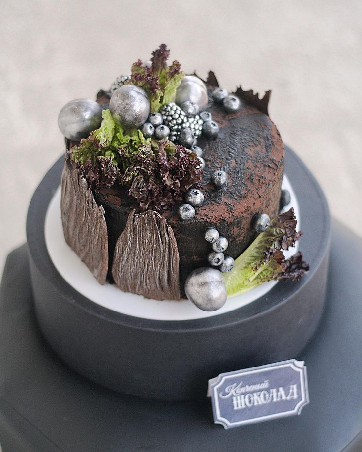 Смищной торт вам покажу👻 Называется не Копчёный шоколад, как написано, а Пенёк в радиоактивном лесу😂 Дело было в Новосибирске, а рядом с Любой @cakeit_nsk все овощи, хлеб и прочие не очень кондитерские штуки сами лезут на торт или становятся десертами, поэтому джаст фо фан навалили на торт все смешное что было🖤😂 Такие дела😁 #she_ra_мк