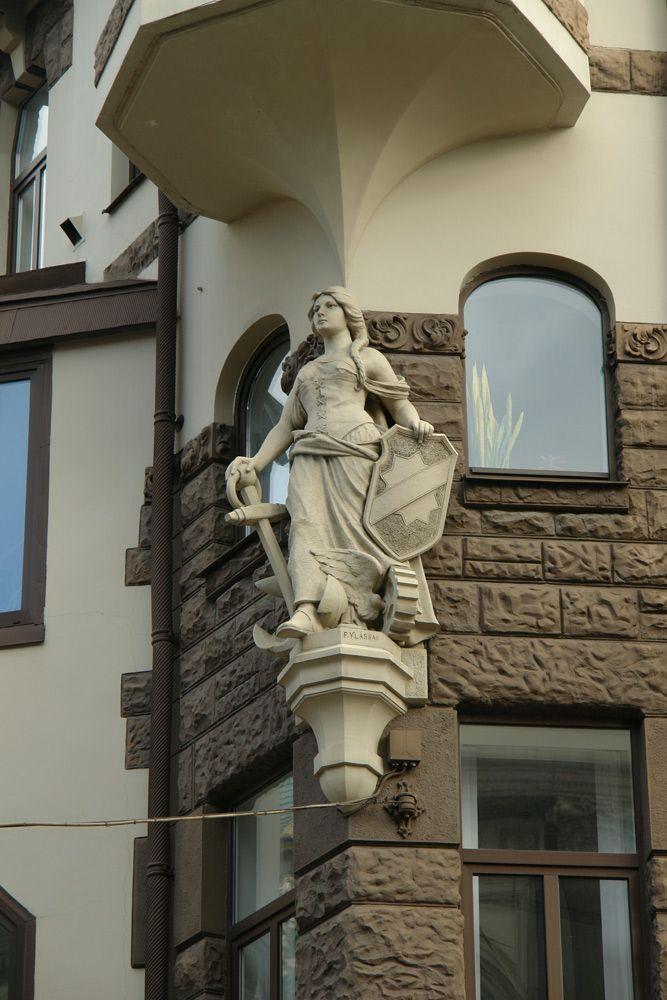 Jugendstil (Art Nouveau) building in Riga, Latvia. (Smilšu 1/3)
