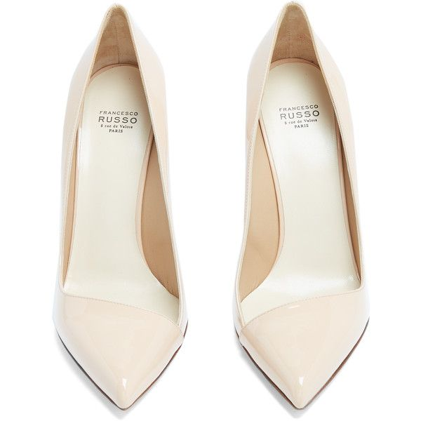 Francesco Russo Asymmetric patent-leather pumps (6.671.495 IDR) ❤ liked on Polyvore featuring shoes, pumps, asymmetric shoes, patent leather shoes, cocktail shoes, evening pumps and holiday shoes