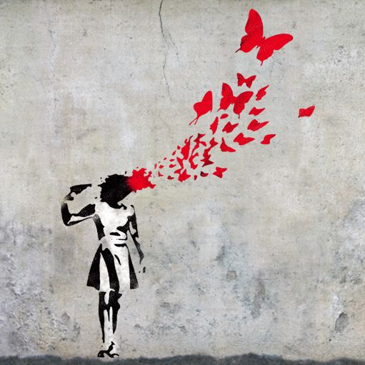 Well, isn't this a nice picture? Banksy does has a way with pictures.