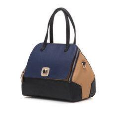 GARDEN BLUE - Colette Leather Tote - Blue