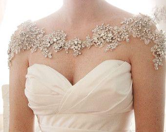 Crystal Bridal Bolero Shoulder Necklace Statement Jewelry Style Grace