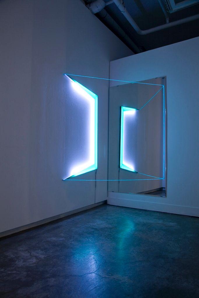 EL wire art installation - Google Search