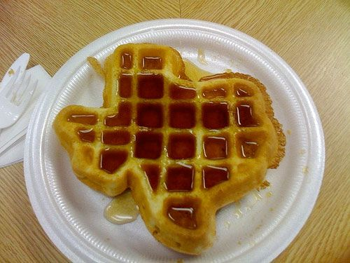 Texas state waffle found in many, many hotels.
