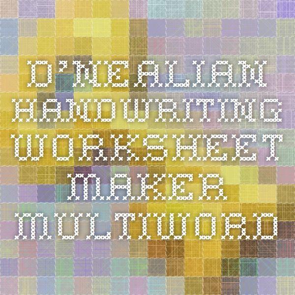D Nealian Handwriting Worksheet Maker - Worksheets