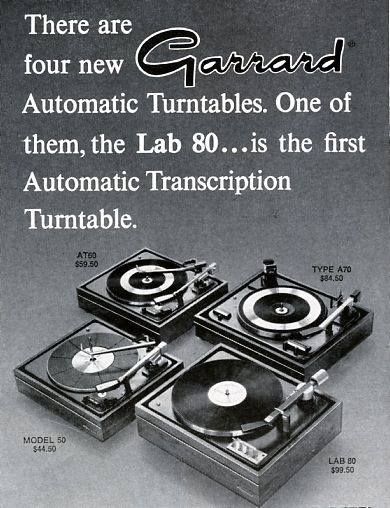 Garrard turntable ad from 1965. These were to die for.