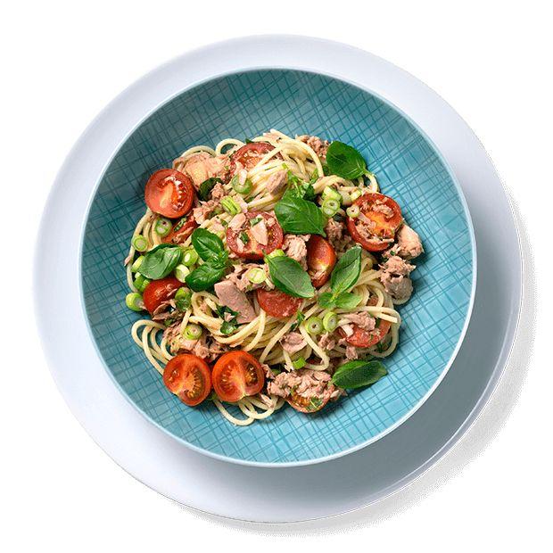 Slik lager du den sunneste pastaretten med tunfisk -
