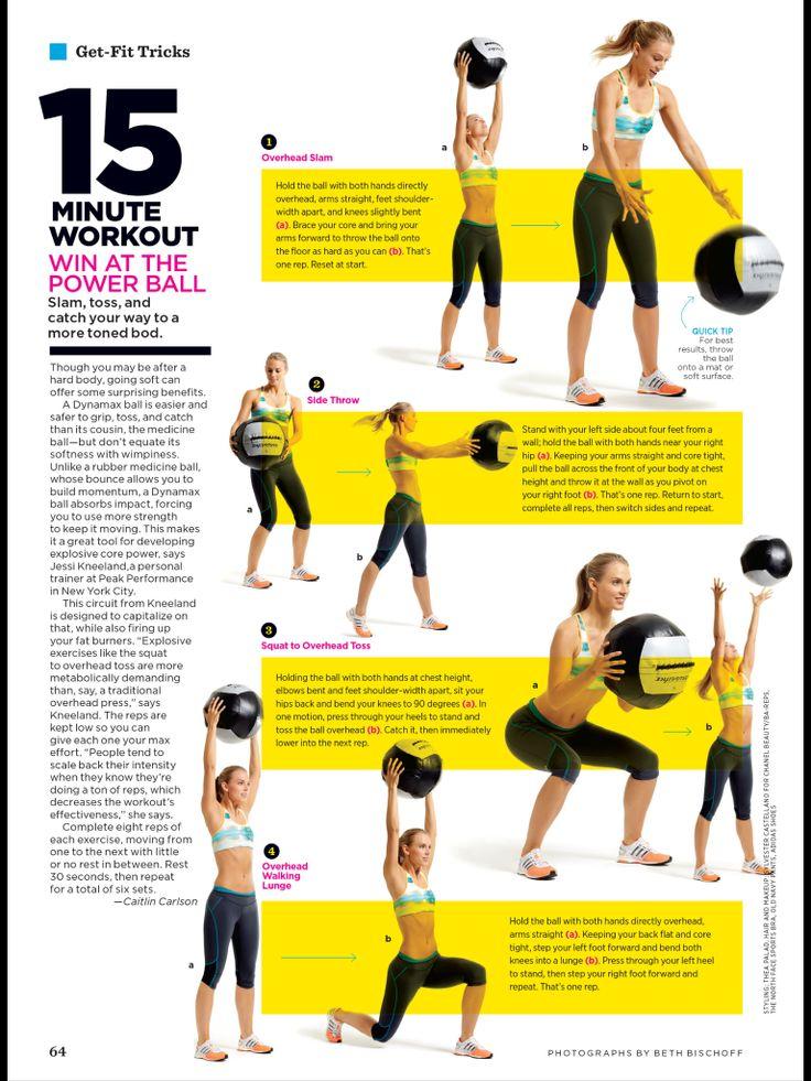 Medicine ball | Workout | Pinterest | Medicine ball ...